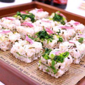 しゃくし菜漬の押し寿司